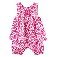 Joules Baby Girls Uma Woven Romper, Tile Geo, Size 12-18 Months
