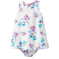 Joules Baby Girls Bunty Woven Dress, Cream Margate Posy, Size 0-3 Months