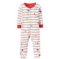 Joules Baby Ziggy All Over Print Babygrow, Sea Dog Stripe, Size 9-12 Months
