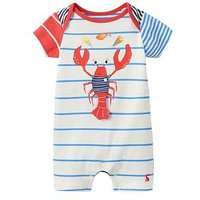 Joules Baby Patch Applique Baby Romper, Hotch Potch, Size 3-6 Months