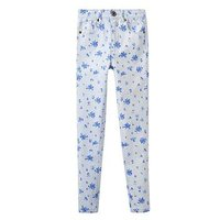 Joules Girls Linnet Print Denim Jeans, Sky Blue Sun Stripe, Size Age: 7-8 Years, Women