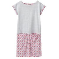 Joules Girls Karolina Jersey Dress, Cream Summer Mosaic, Size 5 Years, Women