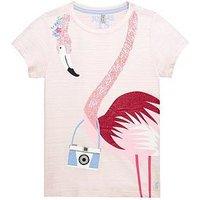 Joules Girls Astra Jersey Tshirt, Rose Pink Stripe, Size Age: 9-10 Years, Women