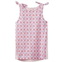 Joules Girls Iris Jersey Vest Top, Cream Summer Mosaic, Size Age: 7-8 Years, Women