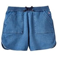 Joules Girls Becca Jersey Shorts, Denim, Size Age: 5 Years, Women