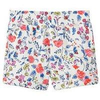 Joules Girls Kittiwake Jersey Shorts, Beach Ditsy, Size Age: 11-12 Years, Women