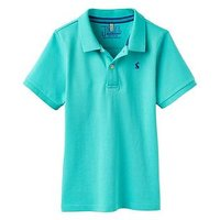 Joules Boys Woody Pique Polo Shirt, Turquoise, Size 3 Years