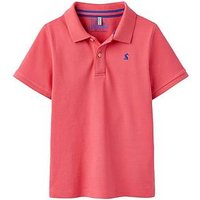 Joules Boys Woody Pique Polo Shirt, Washed Pink, Size 9-10 Years