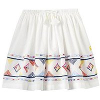 Joules Girls Myla Luxe Woven Skirt, Cream, Size Age: 11-12 Years, Women