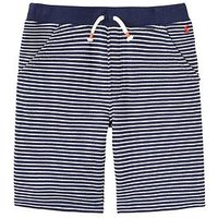 Boys, Joules Devlin Pique Shorts, Navy Stripe, Size 7-8 Years