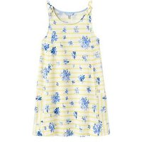Joules Girls Madeline Jersey Dress, Yellow Sun Stripe, Size 6 Years, Women