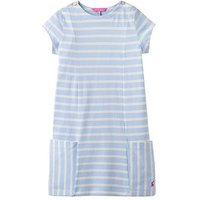 Joules Mara Hotch Potch Stripe Dress, Sky Blue Stripe, Size 1 Year, Women