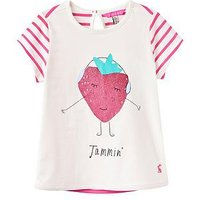 Joules Pixie Screen Printed T-shirt, Cream Jammin, Size Age: 3 Years, Women