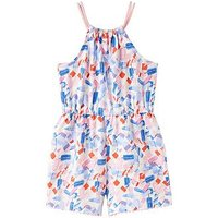Joules Delphi Jersey Playsuit, Lolly Ditsy, Size 1 Year, Women