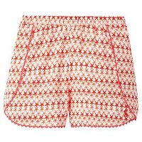Joules Suzette Jersey Shorts, Red Sky Starfish Geo, Size Age: 3 Years, Women