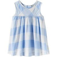 Joules Girls Trudie Woven Vest, Sky Blue Gingham, Size Age: 7-8 Years, Women