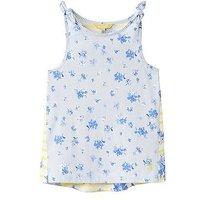 Joules Girls Iris Jersey Vest Top, Sky Blue Sun Stripe, Size Age: 11-12 Years, Women
