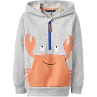 Boys, Joules Snapwell Half Zip Hoody, Grey Marl, Size 6 Years