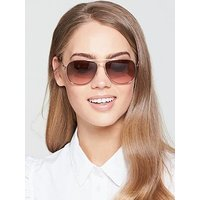Juicy Couture Aviator Sunglasses - Rose Gold, Rose Gold, Women