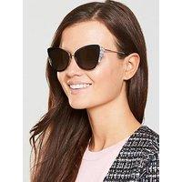MARC JACOBS Cateye Sunglasses - Black/Pink, Black, Women