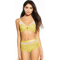 B By Ted Baker Flight Of The Orient Lace Non-Padded Bra - Lime, Lime, Size 36B, Women