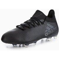 adidas X 17.2 Firm Ground Football Boots, Black, Size 11, Men