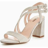 Carvela Group Np Block Heel Sandal, Grey, Size 6, Women