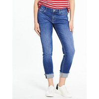 V by Very Deep Turn Up Kayden Jean - Dark Wash, Dark Wash, Size 8, Women