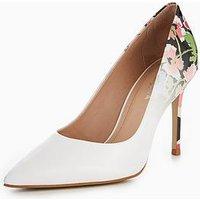 Carvela Alison Floral Court Shoe - White, White, Size 3, Women
