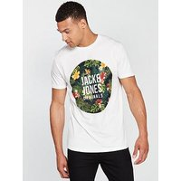 Jack & Jones Jack & Jones Originals S/s Rain T-shirt, Cream, Size Xl, Men
