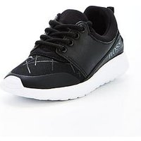 Hugo Boss Boys Logo Graphic Lace Up Trainers, Black, Size 10 Younger