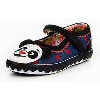 Irregular Choice Panda Toe Shoe, Black Multi, Size 2 Older