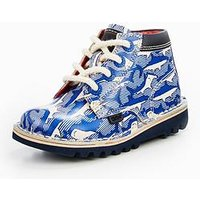 Kickers Kickers Kick Hi Shark Boot - Joules Collection, Navy, Size 9 Younger