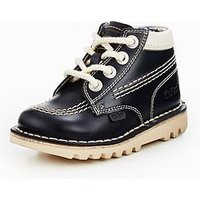 Kickers Kick Hi Boot - Joules Collection, Navy, Size 10 Younger