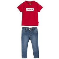 Levi's Baby Boys T-shirt & Pants Outfit, Red, Size 24 Months