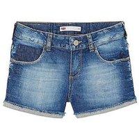 Levi's Girls Denim Shorts, Indigo, Size Age: 6 Years, Women