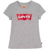 Levi's Girls Logo Fitted T-shirt, Grey, Size Age: 16 Years, Women