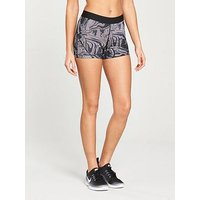 Nike Training Pro 3 Inch Shorts - Marble Print , Grey, Size L, Women