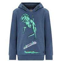 Boys, Monsoon Scott Skater Dino Hoodie, Blue, Size 7-8 Years
