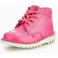 Kickers Kick Hi Boot - Joules Collection, Pink, Size 7 Younger