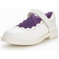 Kickers Lachley Mary Jane Shoe, White, Size 7 Younger
