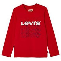 Levi's Boys Long Sleeve T-shirt, Red, Size 4 Years