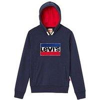 Levi's Boys Newbat Logo Sweatshirt, Dark Blue, Size 8 Years