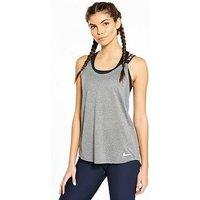 Nike Training Elastika Tank , Grey, Size L, Women