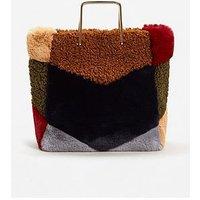 Mango Fluffy Tote Bag, Multi, Women