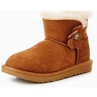 UGG Ugg Mini Bailey Button Poppy Toddler Boot, Chestnut, Size 11 Younger