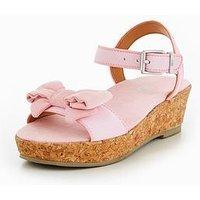 UGG Milley Bow Sandals - Pink, Seashell Pink, Size 5 Older
