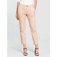V by Very Girlfriend Chino - Dusty Pink, Dusty Pink, Size 16, Inside Leg Regular, Women