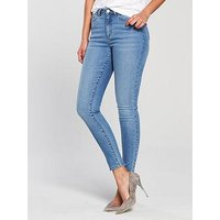 V by Very Florence High Rise Skinny Jean - Pretty Blue, Pretty Blue, Size 16, Inside Leg Regular, Women