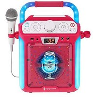 The Singing Machine Sml682Btp Bluetooth Cdg + Tablet Karaoke Machine - Pink